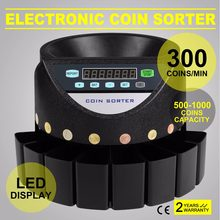 Automatic Electronic Money Sorter & Coin Counter Cash Currency Counting Machine for Euro Coins(China)