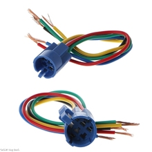 цена на 5 Pin Wire Connector Wiring Socket Plug Adapter For 16/19mm Push Button Switch Wire Connector