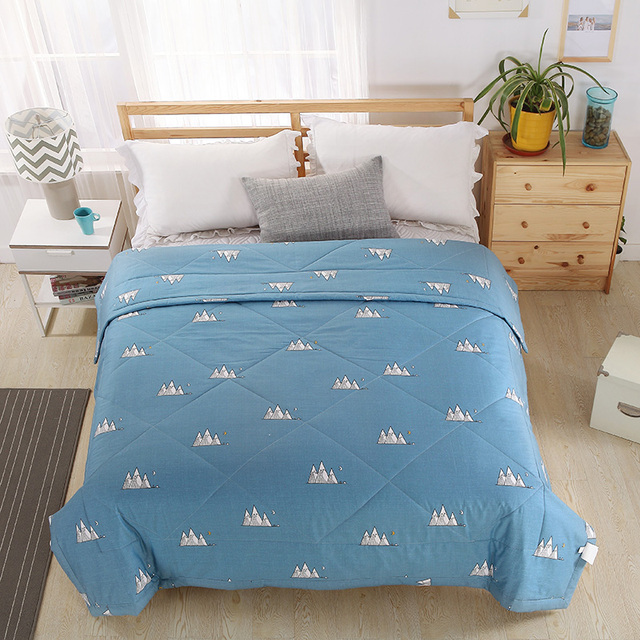 Fashion Cotton Home Textiles White Simple Small Pattern Fabric Summer Quilt Air Conditioning Thin Duvets
