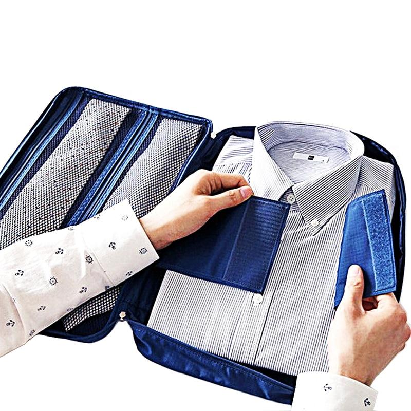 Fashion Tourism Storage Bag Travel Suitcase Organizer Luggage Storage Bag Shirt Tie Bra Clothes Case Handbag Portable Pouch