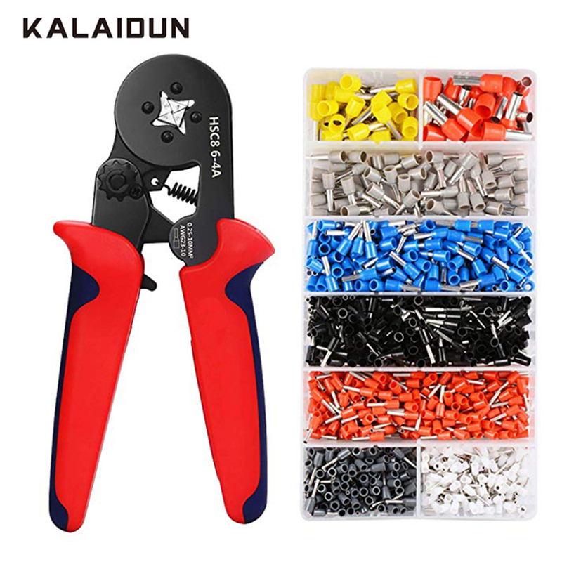 KALAIDUN Crimping Pliers Set Multitool Wire Cable Press Pliers Electric Tube Needle Terminals Box Hand Tools KALAIDUN Crimping Pliers Set Multitool Wire Cable Press Pliers Electric Tube Needle Terminals Box Hand Tools