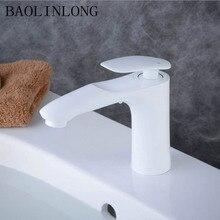 купить Baking Finish Brass Basin Bathroom Faucets Tap  Mixer Faucet Vanity Vessel Deck Mount Sinks дешево