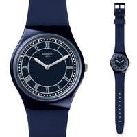 Swatch Watch Classic Color Code Series Blue Neutral Quartz Watch GN254