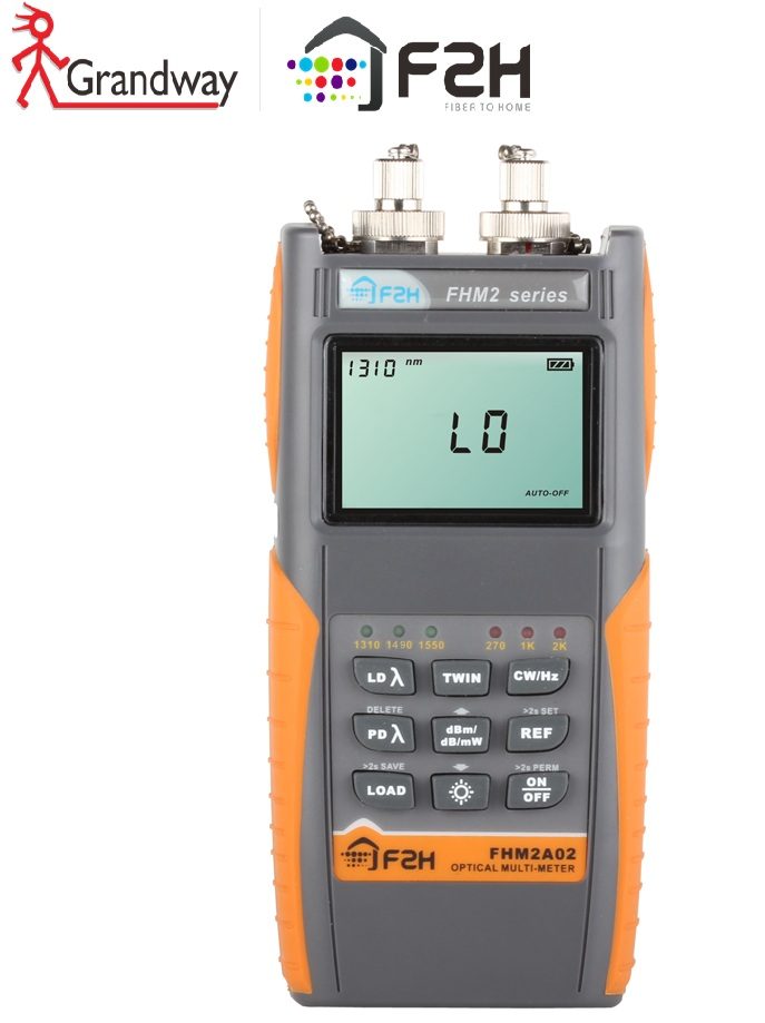 [Grandway Original] multimètre optique de Fiber de FHM-2B02, compteur de puissance et Source lumineuse dans un, testeur de perte optique de Fiber