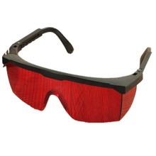 Strong Impact Resistance PC Material Laser Protective Glasses Light Protective Goggles Red Black