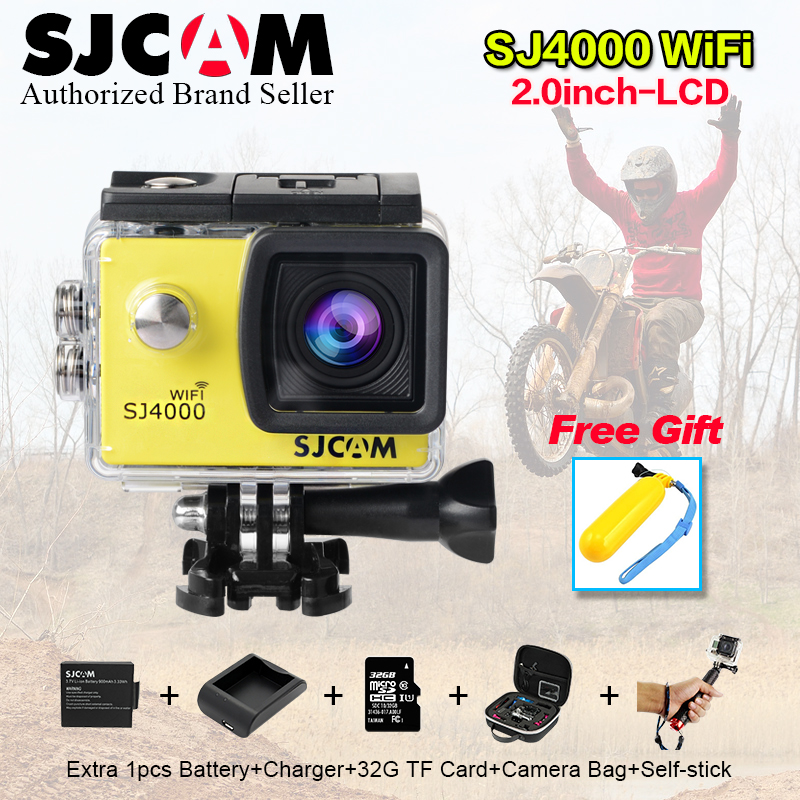 Original SJCAM SJ4000 wi fi 2.0 HD Video Resolution Action Camera Waterproof Camera 1080P Sport DV sj cam sj 4000 sport wifi cam sj4000 wifi full hd 1080p camera sport 2 0 lcd sj 4000 helmet cam go waterproof camera pro style sport dv mini camera sport