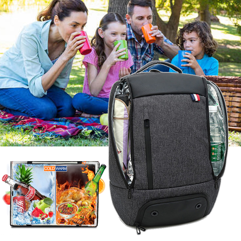 Foods Bag Travel Outdoor Large Backpack Picnic Camping Family Lunch Keep Food Drink Cold Warm Waterproof Storage Organizer Bags image