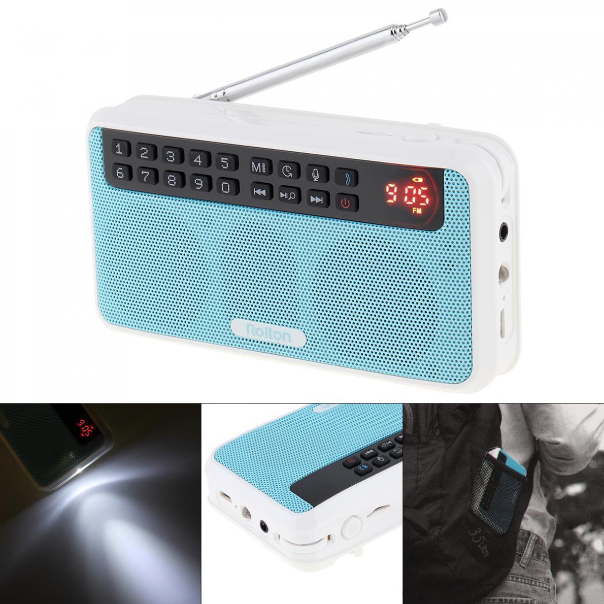 Unparteiisch Rolton E500 Drahtlose Bluetooth Lautsprecher Tragbare Digitale Fm Radio Hifi Stereo Tf Musik-player Mit Led-anzeige Für Pc/ Ipod/telefon Kaufe Eins Radio Bekomme Eins Gratis