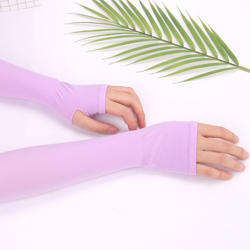 Sun Protection Arm Cooling Sleeve Warmers Cuffs UV Protection Sleeves Breathable Quick Dry Running Arm Sleeves Men Women