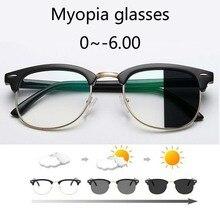 Anti Blue light Photochromic Eyewear Photosensitive Chameleon Anti-glare Change Color Lenes Prescription Myopia Glasses
