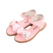fc862f3f4 جديد الصيف صنادل أطفال أزياء الفتيات الصنادل القوس الأميرة الأطفال أحذية  لينة سندريلا أحذية(China