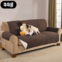 AAG Waterproof Quilted Sofa Cover For Dogs Pets Kid Anti-Slip Couch Recliner Slipcover Armchair Furniture Protector 1/2/3 Seater waterproof sofa cover 2019 new couch slipcover for pet kid recliner armchair anti slip furniture washable protector 1 2 3 seater