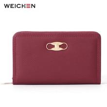 WEICHEN Many Departments Standard Wallets for Women Card Holder Zipper Coin & Cell Phone Pocket Female Wallet Day Clutch Purse недорого