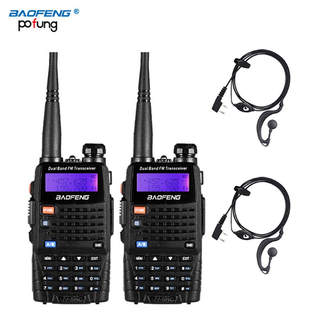 2 PCS Baofeng UV 5RC Walkie Talkie Ham Two Way VHF UHF CB Radio Station Transceiver Boafeng Amador Scanner Portatile Wakie a portata di mano