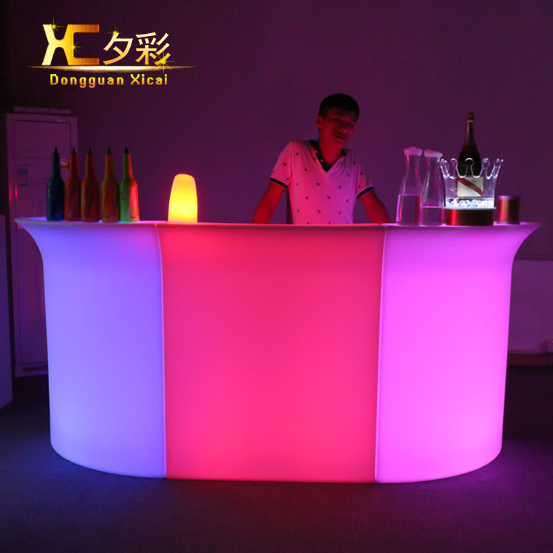 Plastic Led Bar Table Color Changing Counter Club Waiter Mobile Counters With Ice Cooler In Tables From Furniture On Aliexpress Alibaba Group