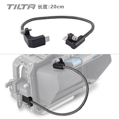 Tilta CB USBC 20 Nero 90 Gradi 20 centimetri USB C Cavo per BMPCC 4K