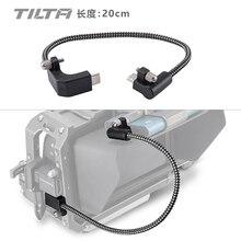 Tilta CB USBC 20 preto 90 grau 20cm USB C cabo para bmpcc 4k
