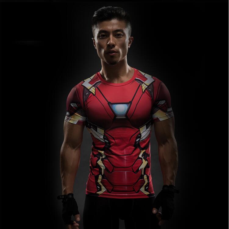 Captain America 3D T Shirt Men Fitness Compression Shirts Tops Male Print Superhero Superman  Crossfit Anime T-Shirts