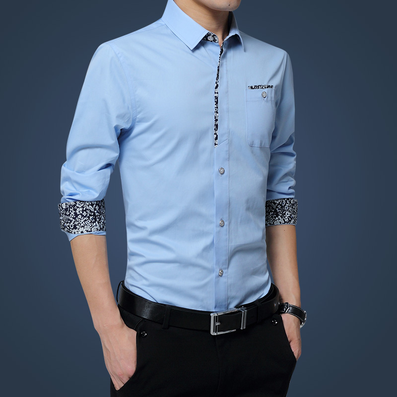 2018! Frühling Und Herbst Neue Männer Hemd Business Größe Lässige Mode Normallack Dünne Männer Langärmeligen Overalls Shirts Strukturelle Behinderungen