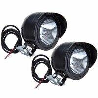 100 Pairs Motorcycle Motorbike Bike LED Headlight Spot Light Head Lamp Front Light 12V 80V ATV