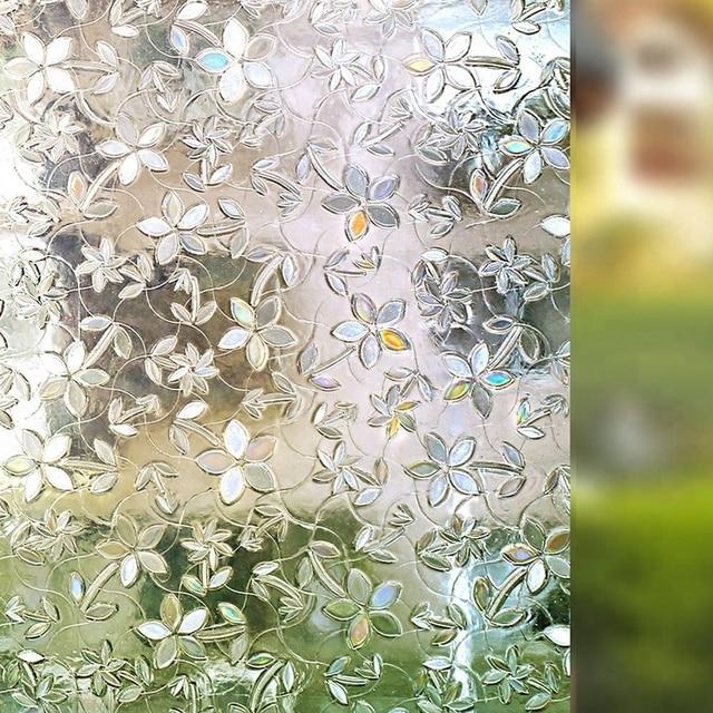 Window Self-adhesive Film 3D Static Decoration Window Sticker, for UV Rejection Heat Control Energy Saving Privacy Glass Sticker 2