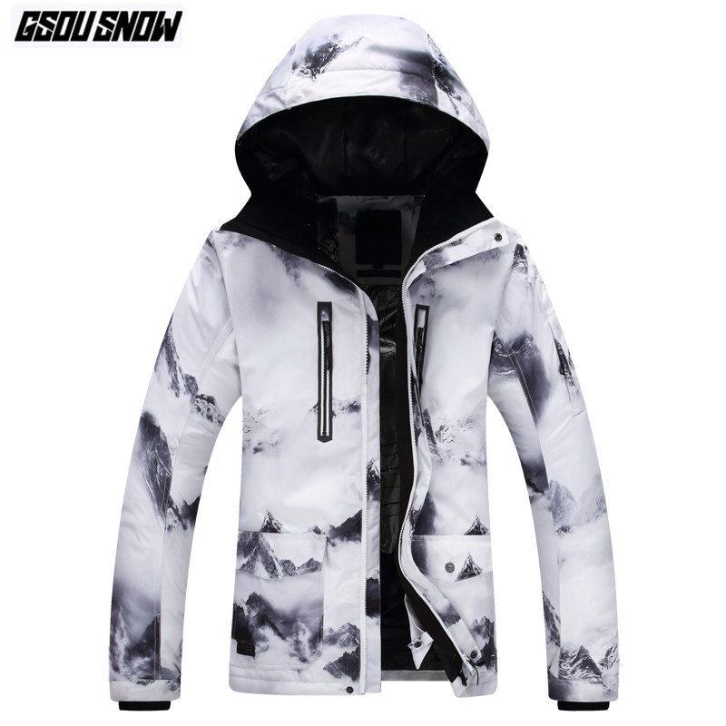 GSOU SNOW Brand лыжные куртки Для женщин Для мужчин Сноубординг куртки зимние Лыжный Спорт женские зимняя одежда Водонепроницаемый теплый челове