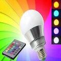 10 W E27 RGB Lâmpada LED 220 V Lâmpada RGB 16 Mudança de Cor Luzes de Natal Decoração Da Lâmpada Lâmpada Com Controle Remoto controle
