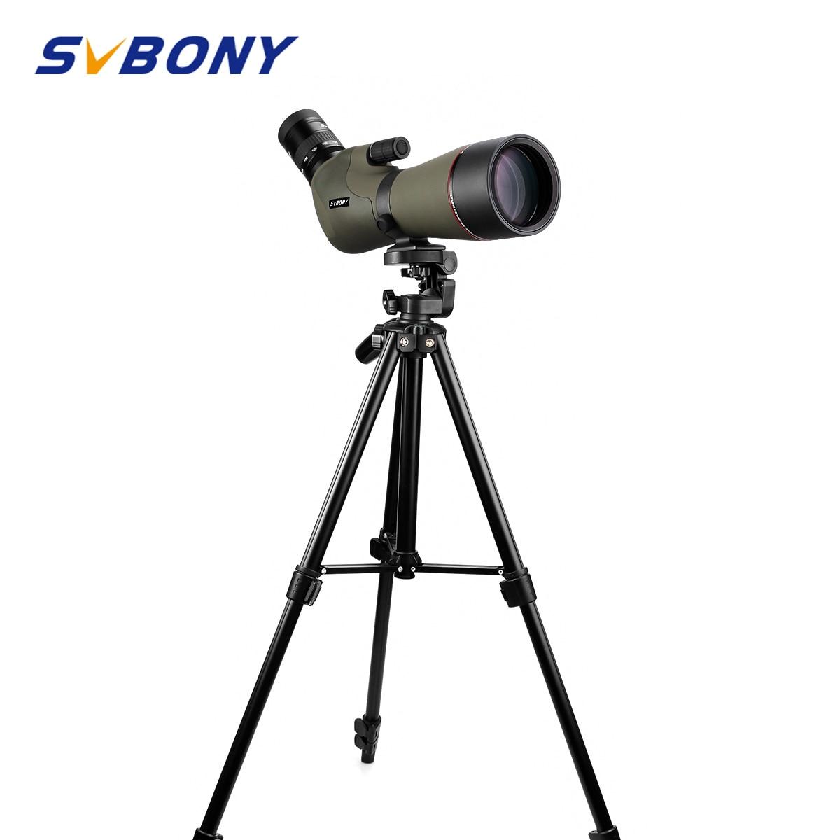 "SVBONY 20 60x80 Zoom Spotting Scope Nitrogen Filled Water proof Telescope Dual Focus Mechanism Metal Body w/ 54"" Aluminum Tripod-in Spotting Scopes from Sports & Entertainment"