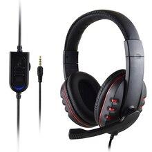 3.5mm wired gaming headset com microfone hd fone de ouvido estéreo para ps4 para x box um jogo pc chat