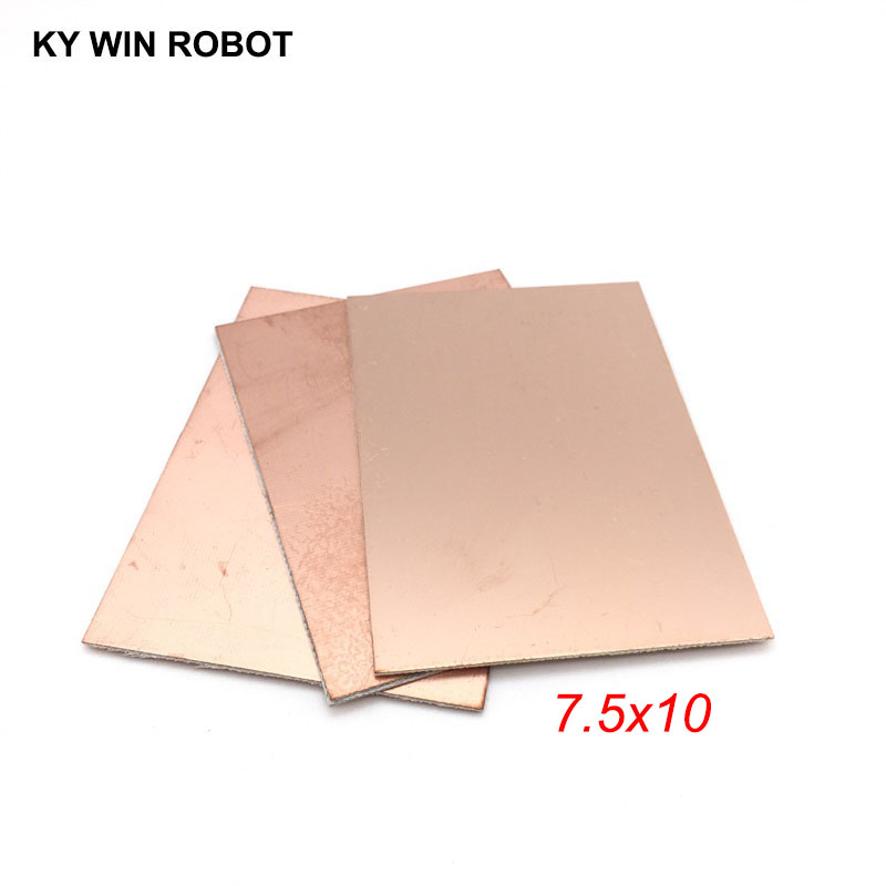 1 Pcs FR4 PCB 7.5*10cm Double Side Copper Clad Plate DIY PCB Kit Laminate Circuit Board 7.5x10cm 75x100x1.5mm