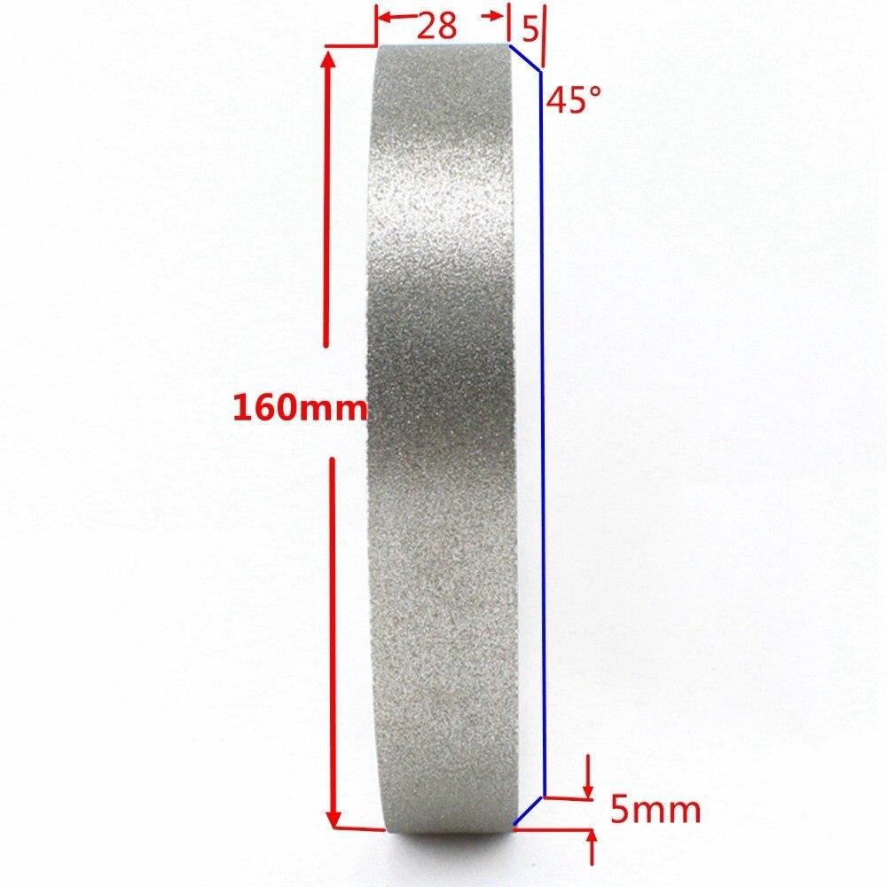 цена на 160mm Grit 320 Medium Lapidary Diamond Facing Grinding Wheel Coated Bore Size 31.9mm Tools for Stone Customized Non-standard