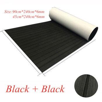 EVA Teak Decking For Boat Yacht Marine Flooring Carpet With Adhesive Gule  90x240cm/45x240cm Black In Black Boat Accessories