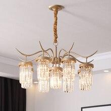 TRAZOS K9 Crystal Chandeliers LED Gold Finished Light Wave Art Decor Modern Suspension Lighting Hotel Villa Hanging Lamp
