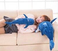 stuffed plush toy about 55cm dark blue whale plush toy soft toy birthday gift w0243