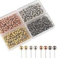 800Pcs/Set Colorful Push Pins Set 200Pcs Per Color Quality Metal Pushpin Thumbtack Office Supplies Schools Stationery Office|Pin| |  -