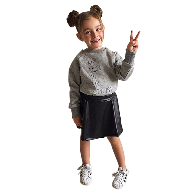 8a64e24a3cce Aliexpress.com   Buy 2PCS Fashion Kids Girls Clothes Autumn Toddler ...