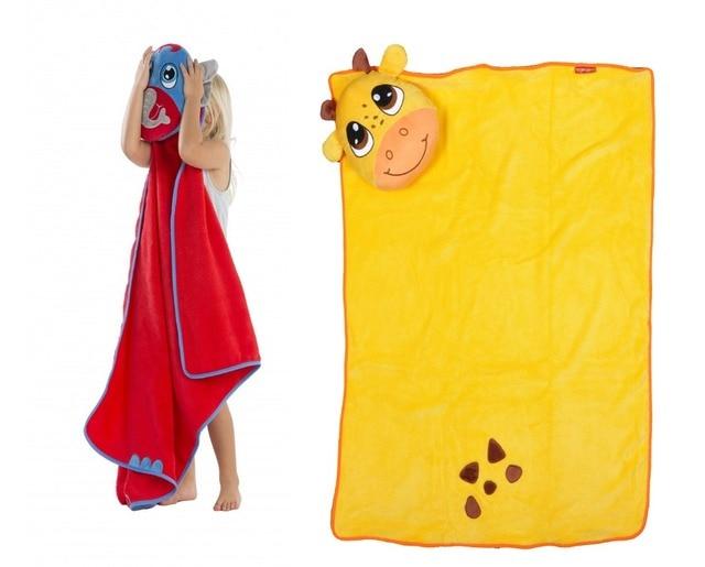 2016 Kawaii Animal shape baby hooded bathrobe Elephant dinosaur bathrobe fleece baby towel neonatal blanket children's bathrobes