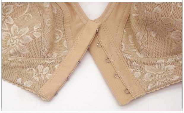 cf890aa0f6 ... Wireless cotton Bras for Women lingerie Front Close T-Back Bra Leisure  Comfortble Underwear plus ...