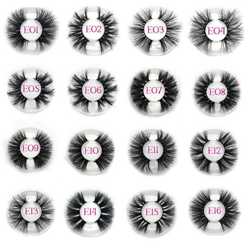 Mikiwi 25 мм 50 пар Бесплатный Логотип норковые ресницы оптовая продажа 16 стилей круглый чехол Упаковка Этикетка драматическая 25 мм 3D норковые ресницы