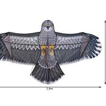 Высокое качество 2,4 м большой орел воздушный змей летающие игрушки для взрослых ripstop нейлоновые воздушные змеи катушка cometas para adultos cometas