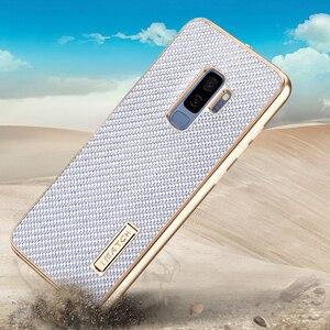 Image 5 - Samsung Galaxy S9 /S8 artı durumda lüks Metal alüminyum tampon kapak karbon Fiber koruma kılıfları Samsung Galaxy s9 S8 kılıfı