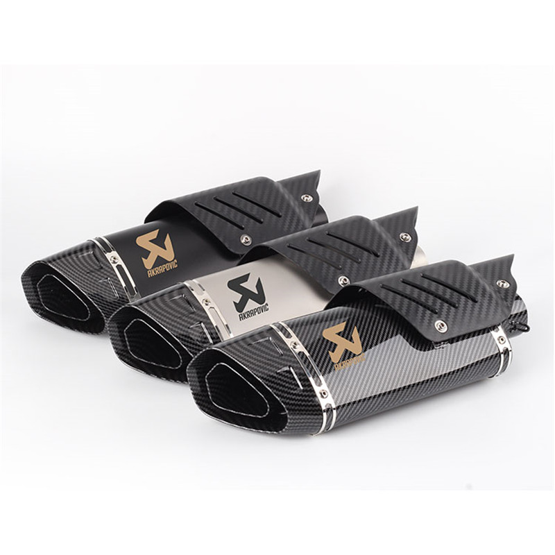 Motorcycle Akrapovic exhaust pipe muffler big four corner exhaust with Carbon Fiber Protector cover  R6 ZX6R Z900 motocrossMotorcycle Akrapovic exhaust pipe muffler big four corner exhaust with Carbon Fiber Protector cover  R6 ZX6R Z900 motocross