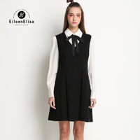 Latest Dresses For Ladies Preppy Style Dress Womens Runway 2017 Spring Dress Long Sleeve
