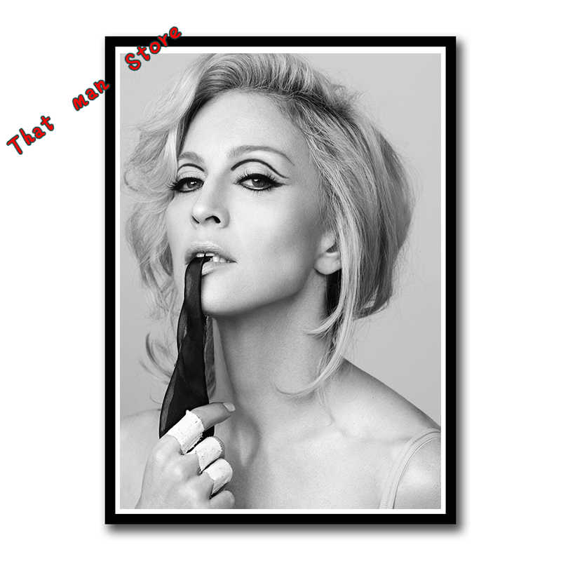 Madonna Ciccone Modern Clear Image White Poster Stylish Home Decor Bedroom High Quality Wall Sticker