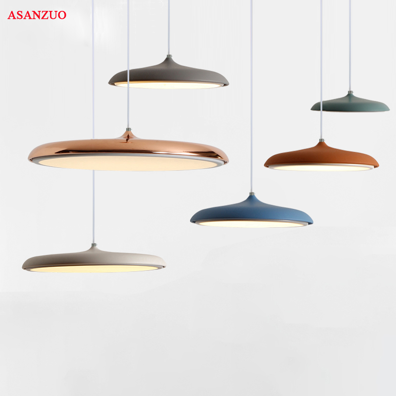 Nordic LED Hanging&Pendant Lights Colorful DIY Art Lighting Dining Room Corridor Bar Cafe Pendant Lamp Fixtures Home Decoration