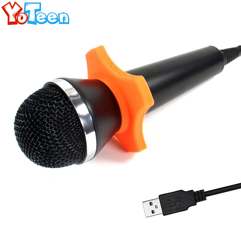 Universal Karaoke Mic for PS4 PS3 XBOX One 360 Wii U PC Games USB Microphone For Wii Video Games USB Microphone Handheld Wired 5 in 1 wired karaoke microphone set for ps3 ps2 pc wii xbox 360 black 2 pcs