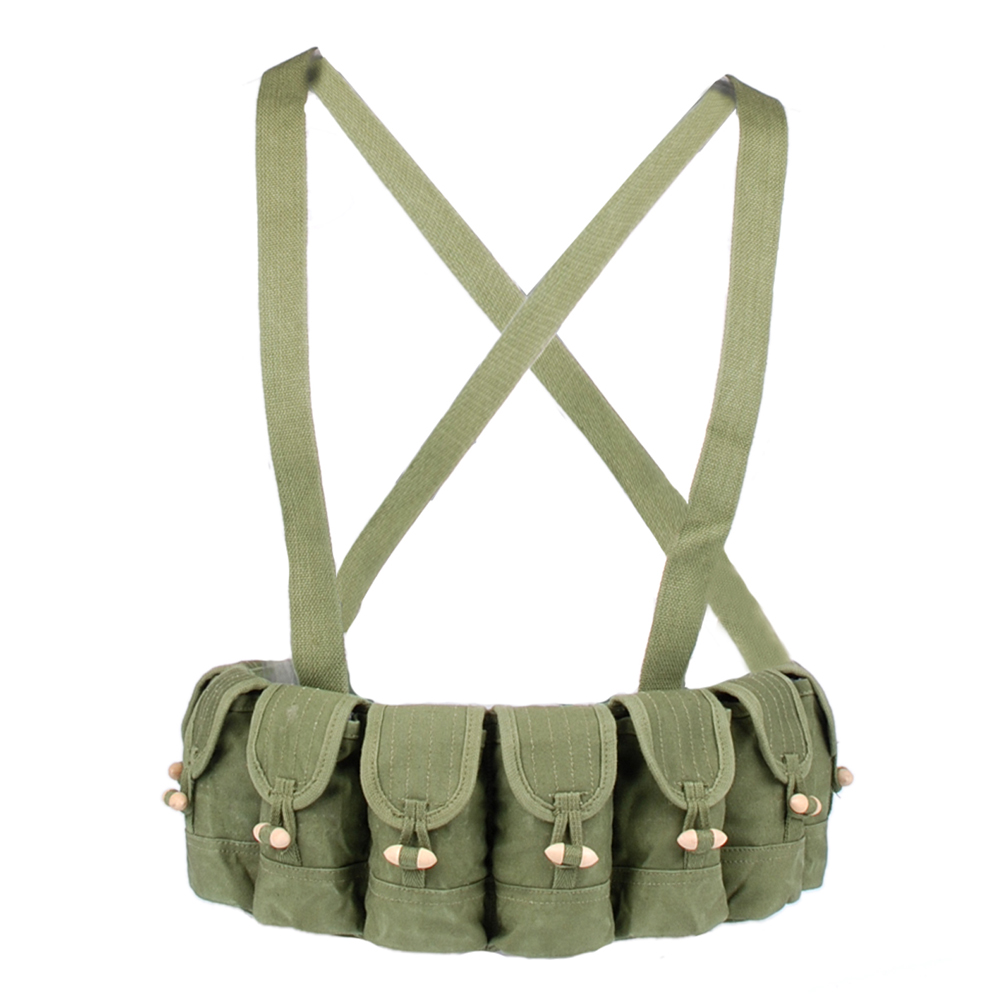 SURPLUS CHINESE MILITARY SKS TYPE 56 SEMI AMMO CHEST RIG BANDOLIER POUCH