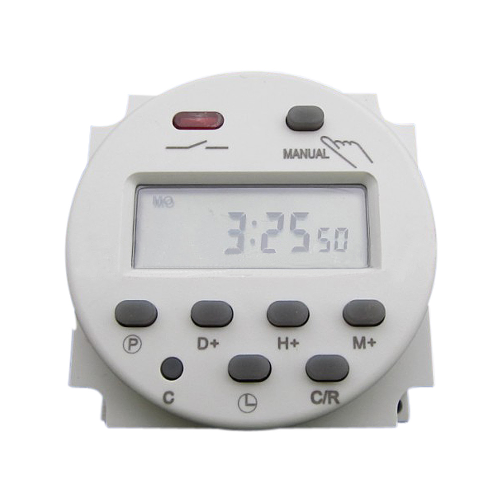 цена на Hot Selling CN101 DC 12V Digital Round LCD Power Programmable Timer Time Relay 16A Switch Support 17-times Daily Weekly Program