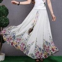 Bohemia Bust Skirt Full Dress National 2014 Trend Vintage Print Chiffon Expansion Skirt Full Dress