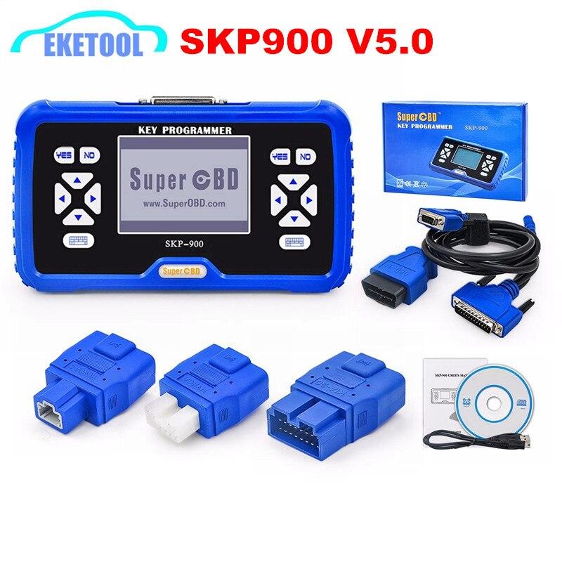 100% Original V5.0 SuperOBD2 SKP-900 Key Programmer New No Tokens Limited Update Online Auto Key Maker SKP900 Express FAST